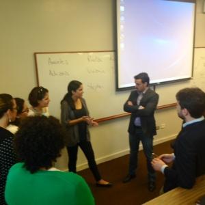Estudiantes de la Escuela de Derecho de la UPR servirán de relatores durante la discusión de los diversos principios. Foto por: Erika Fontánez Torres